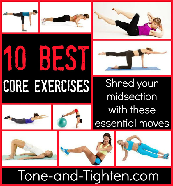 Top 10 Best Core Exercises | Tone and Tighten