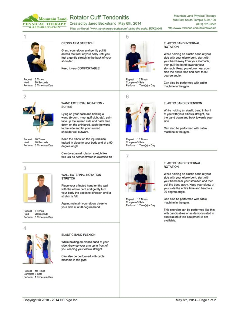 Feel better now series best home exercises for rotator cuff