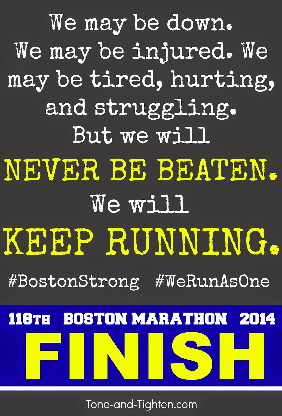we will forever be boston strong tone and tighten