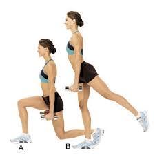 lunge hip lift