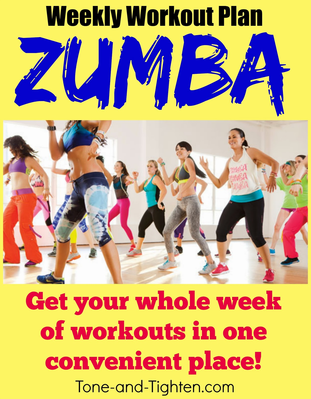 Weekly Workout Plan – The best free Zumba videos to Tone and ...