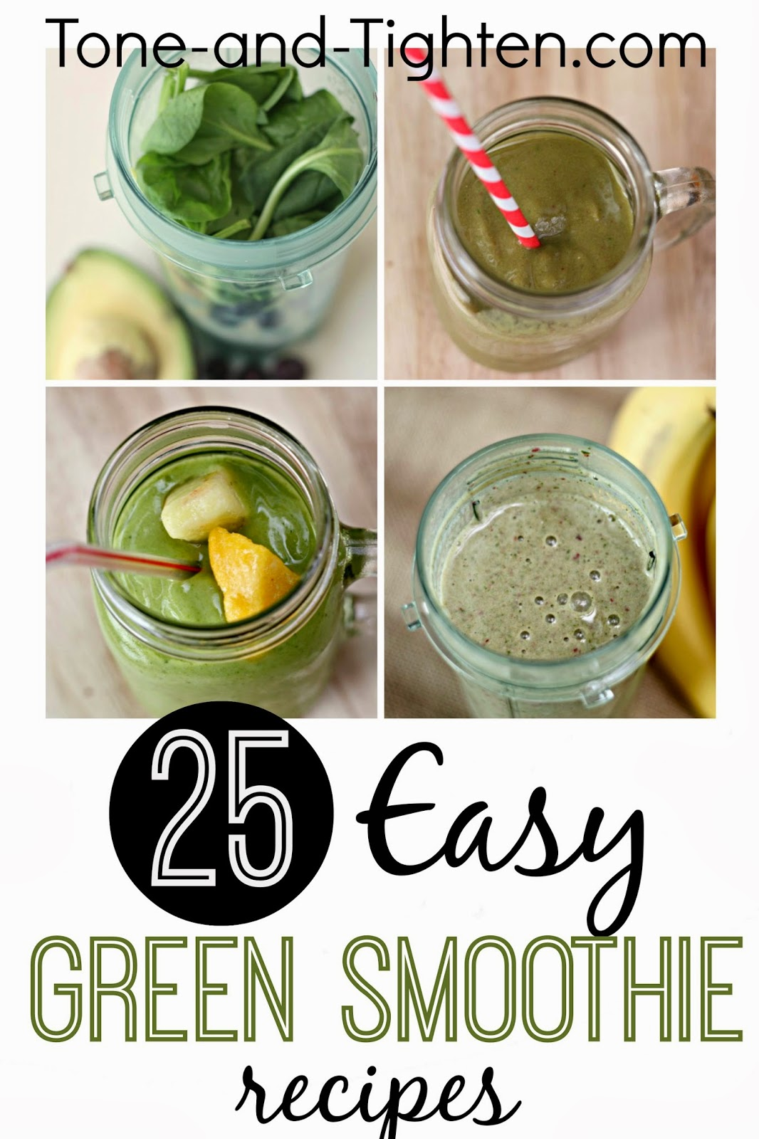 Blueberry Avocado Green Smoothie Recipe Tone And Tighten