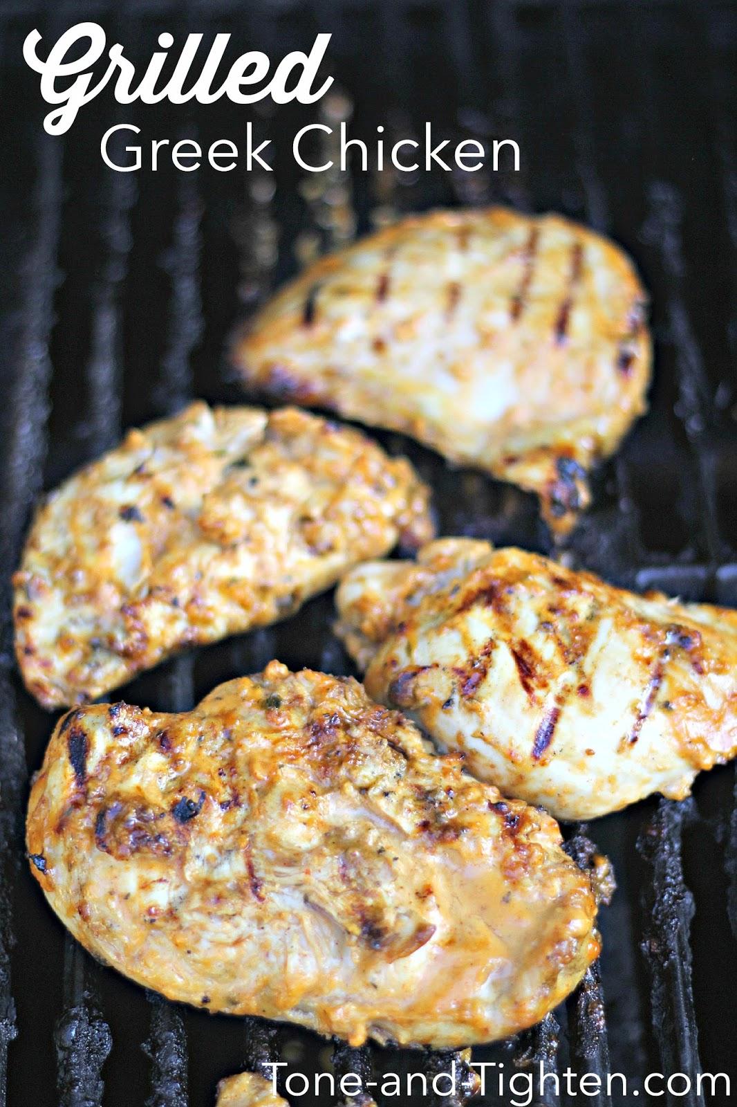 Grilled Greek Chicken Breast Recipe | Tone and Tighten