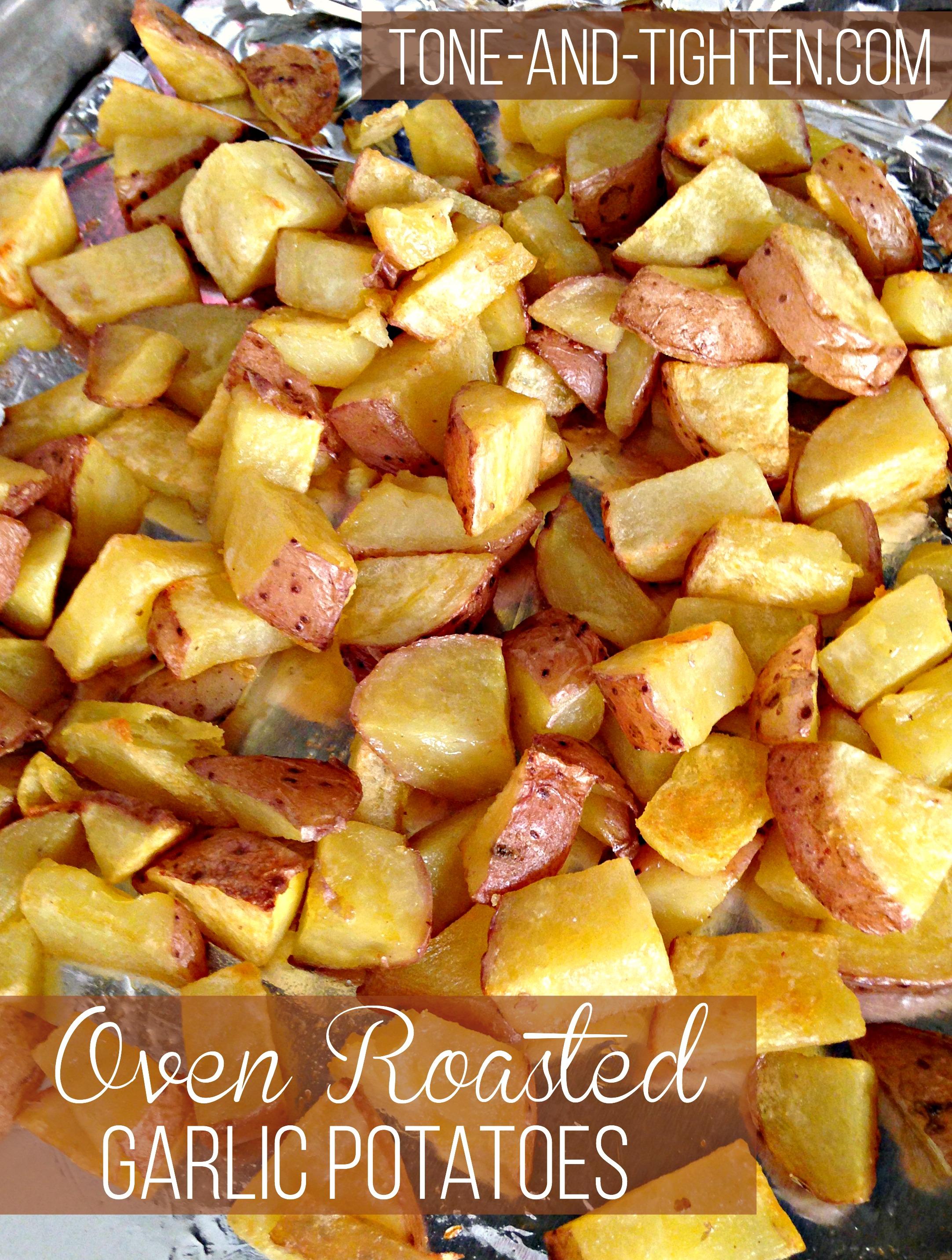 Roasted Garlic Potatoes | Tone and Tighten