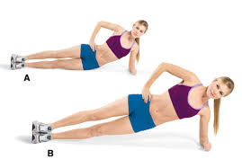 side plank hip dip
