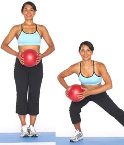 medicine ball side lunge