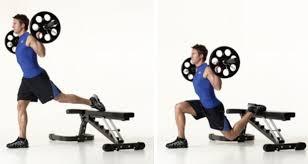 weighted bulgarian split squat