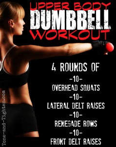 upper body arm shoulder workout with dumbbells tone and tighten