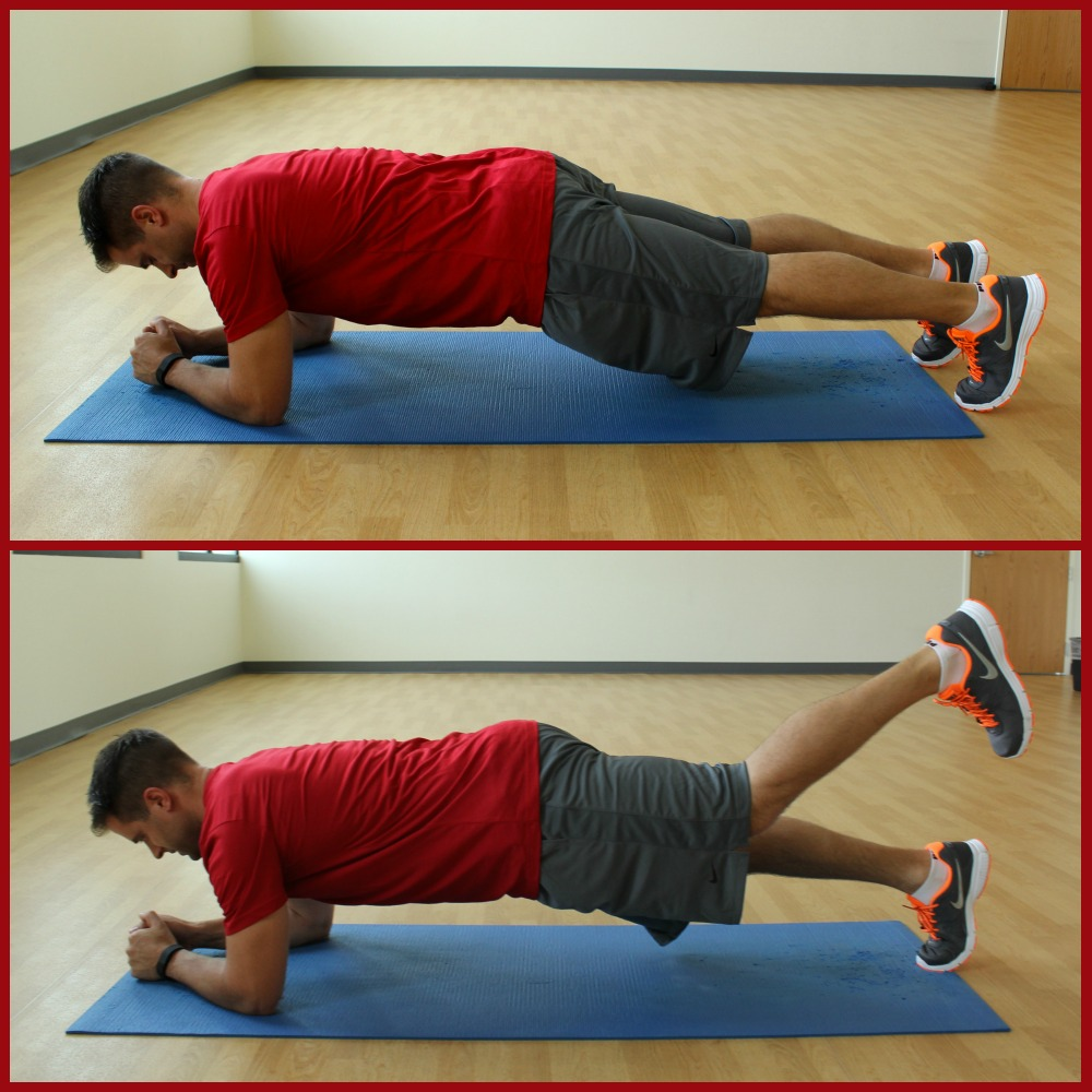 plank with march 2
