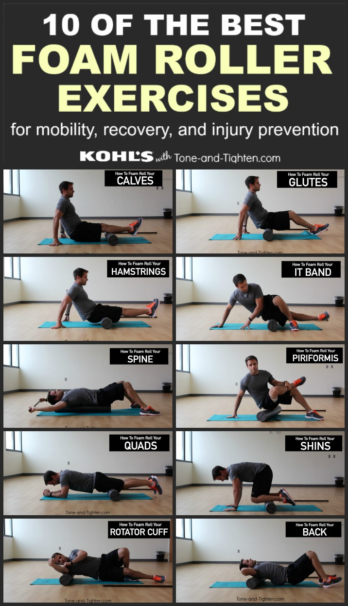 10 of the Best Foam Roller Exercises | Tone and Tighten