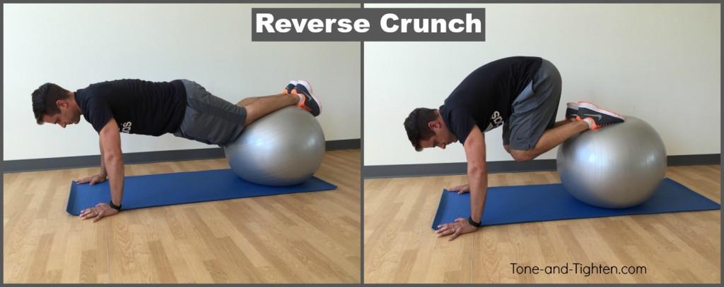 reverse crunch exercise ball