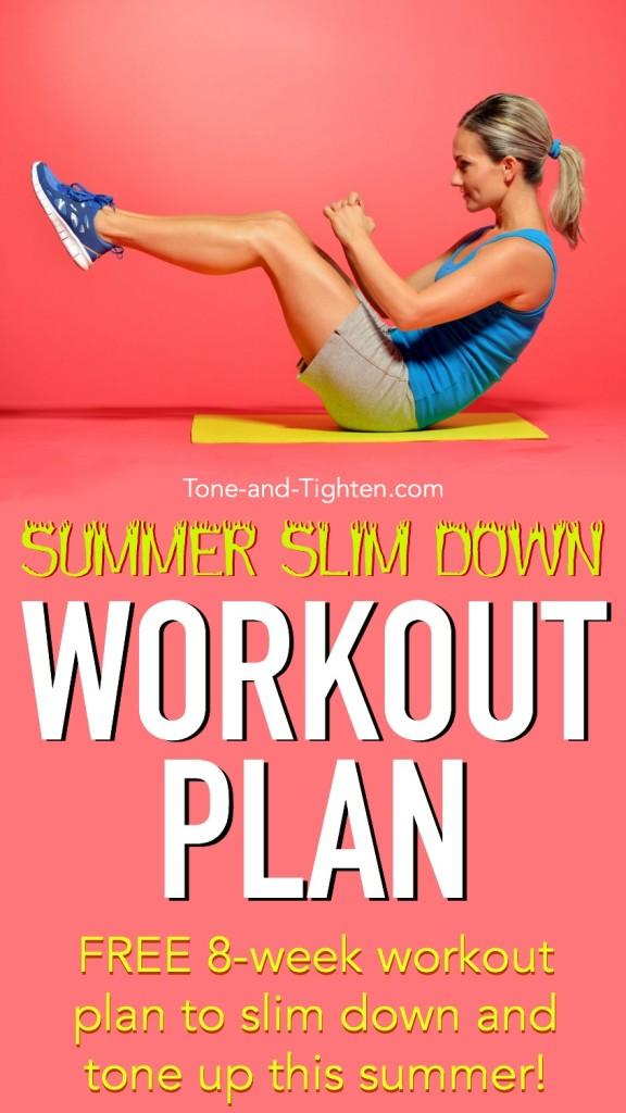 summer slim down workout plan pinterest