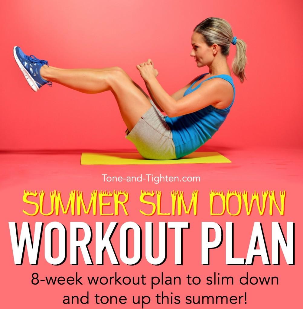 summer slim down workout plan tone tighten