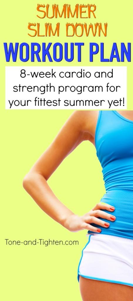 summer slim down workout plan week 2 pinterest