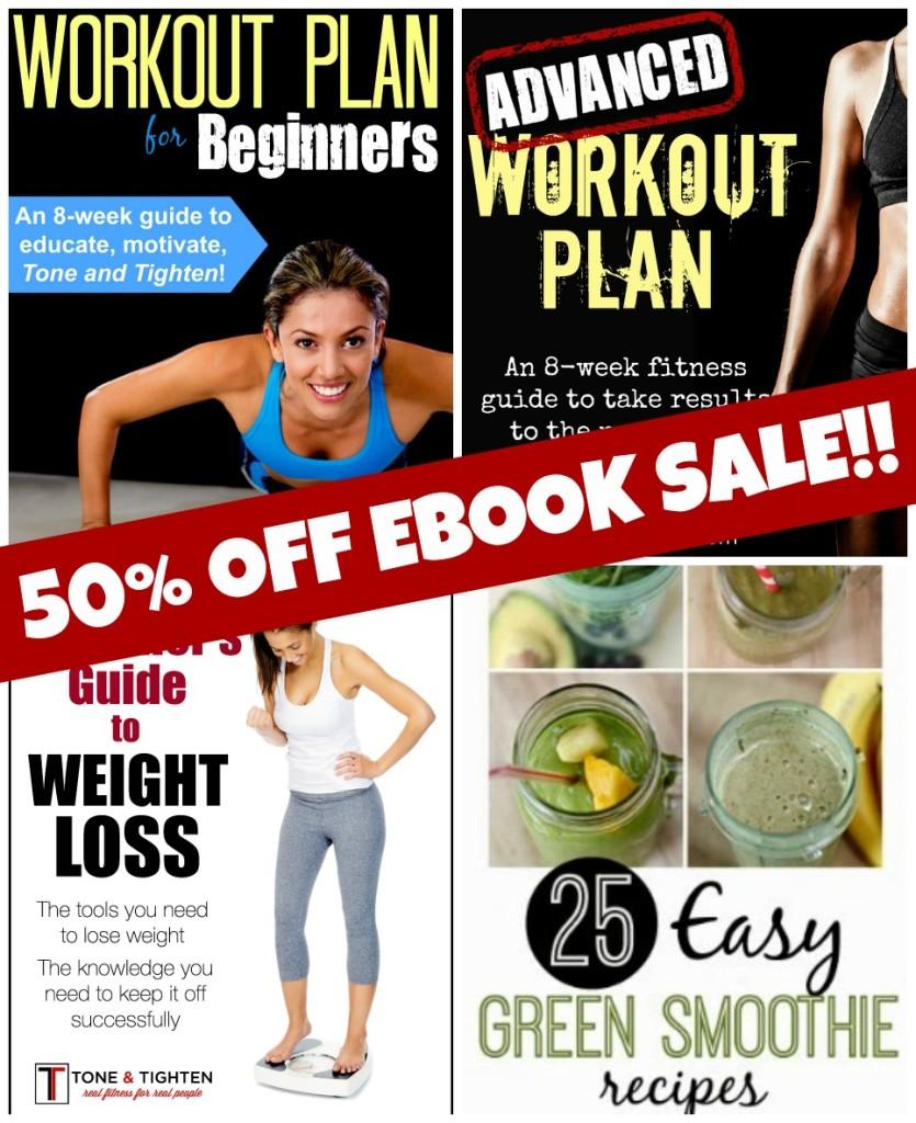 50 off ebook sale tone and tighten