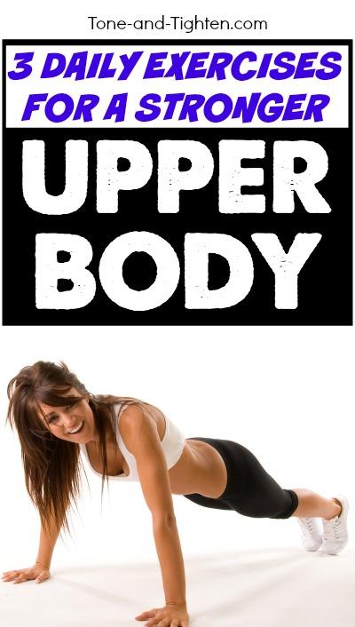daily exercises stronger upper body pinterest