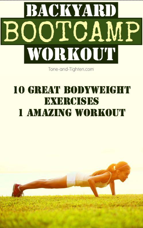 outdoor backyard bootcamp bodyweight workout pinterest