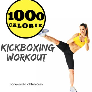 1000 calorie kickbox workout at home tone tighten