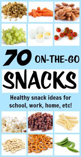 70 on the go healthy snacks tone tighten pinterest