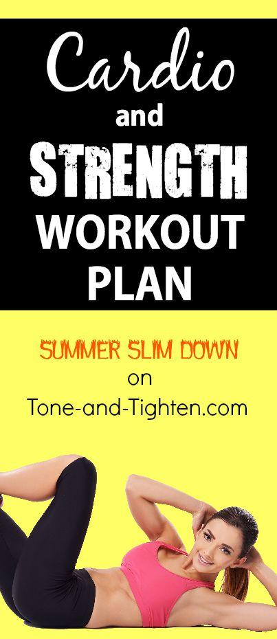 at home workout plan summer slim down pinterest