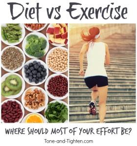 diet vs exercise what's better tone tighten
