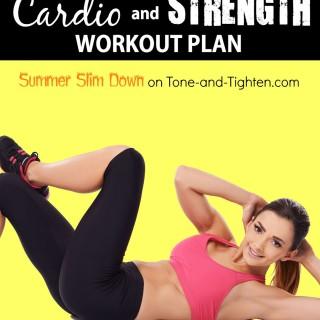 summer slim down workout plan cardio strength week 8