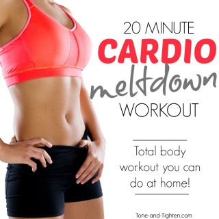 20 minute cardio workout at home tone tighten