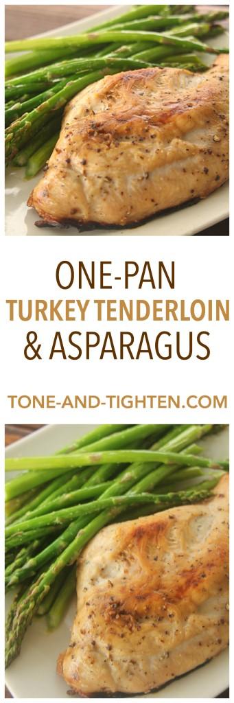 One Pan Turkey Tenderloin and Asparagus on Tone-and-Tighten.com