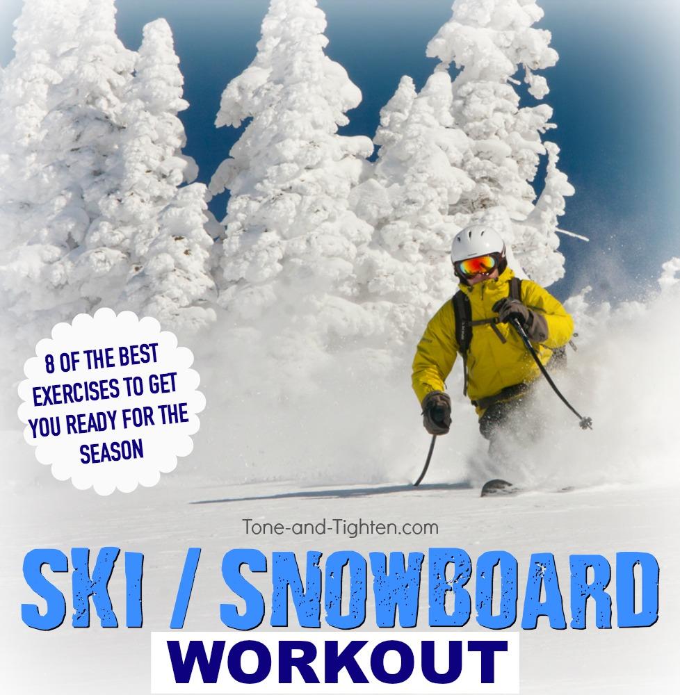 ski snowboard workout exercises tone tighten