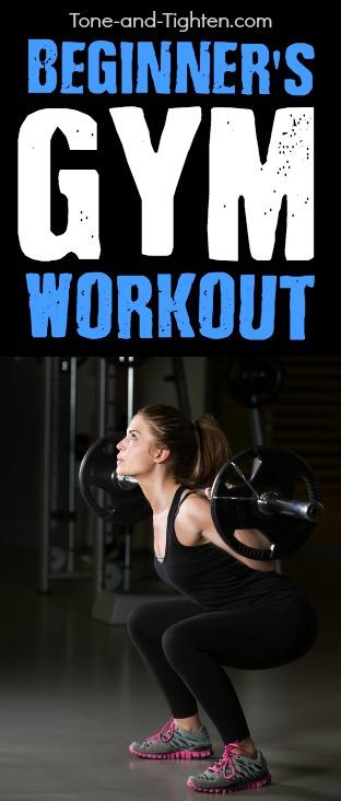 beginner gym workout pinterest