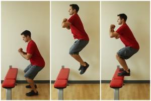box jumps bench