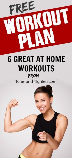 free at home workout plan pinterest