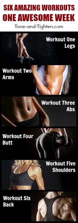 weekly workout plan total body pinterest