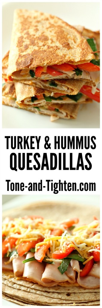 Turkey and Hummus Quesadillas from Tone-and-Tighten