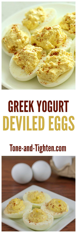 Greek Yogurt Deviled Eggs from Tone-and-Tighten.com