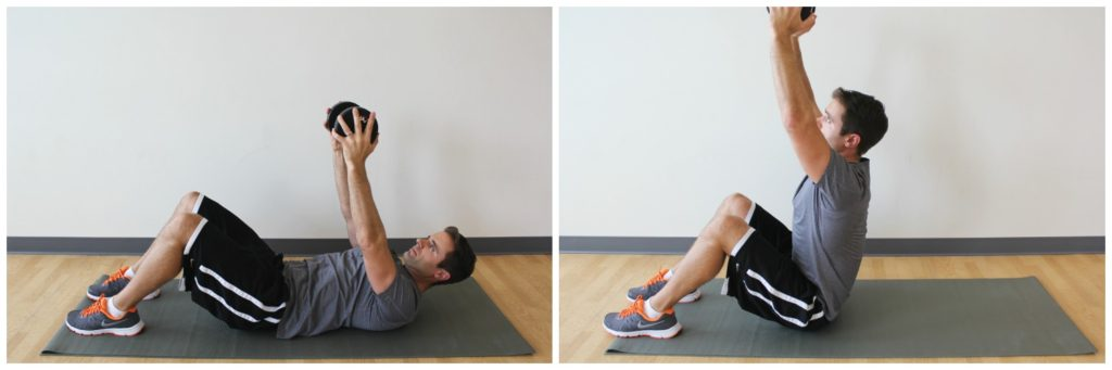 dumbbell sit up