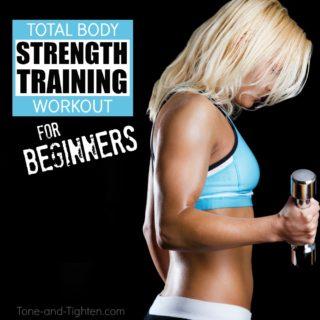 beginner's strength training workout tone tighten
