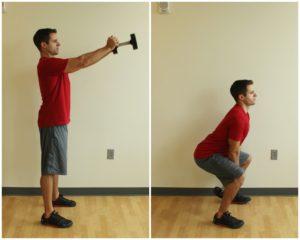 dumbbell swings exercise