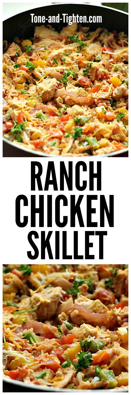 Ranch Chicken Skillet | Tone and Tighten
