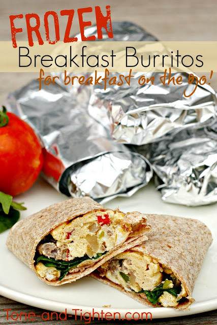 Frozen Healthy Breakfast Burritos