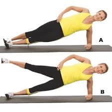 side plank hip lift