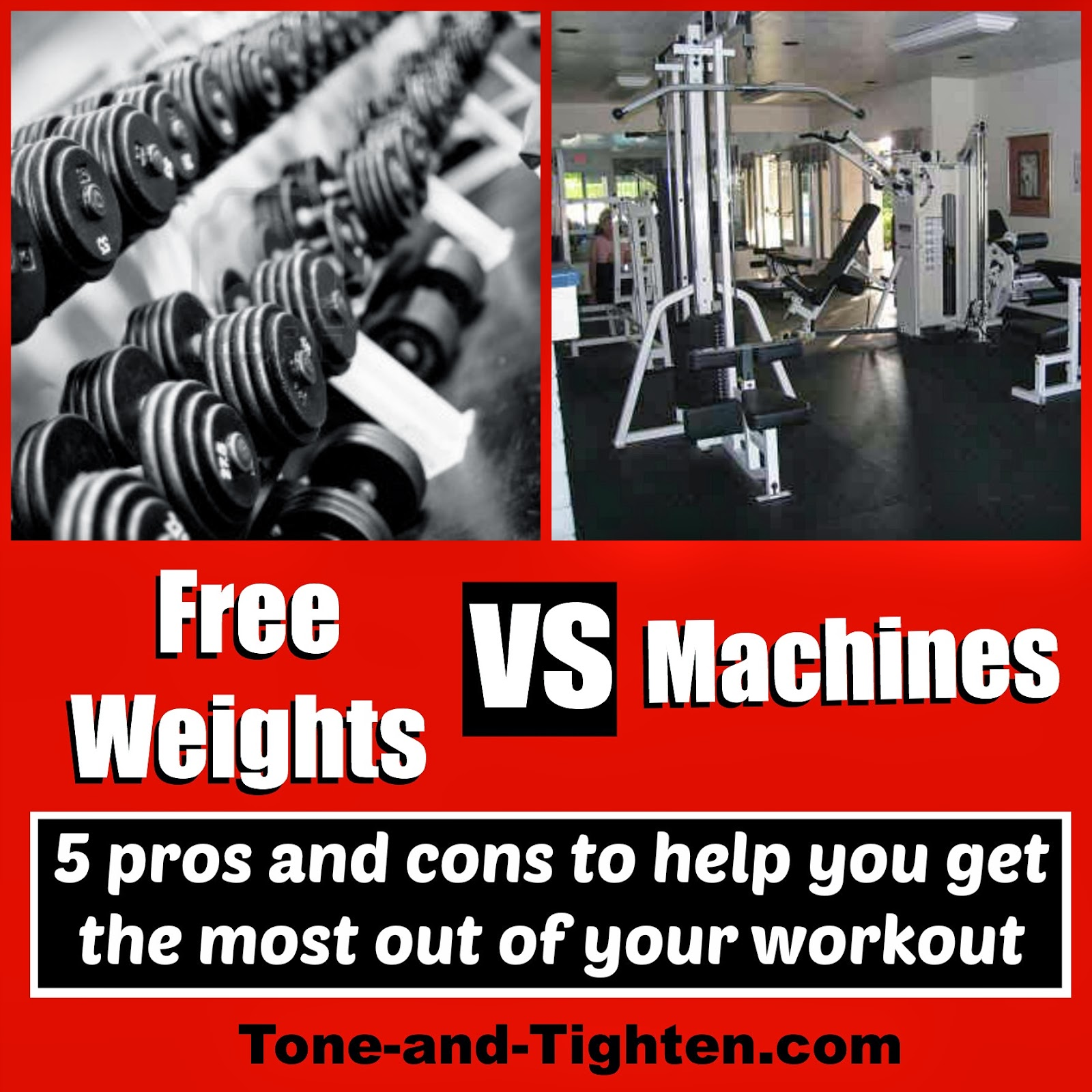 Free weights vs machines tone and tighten
