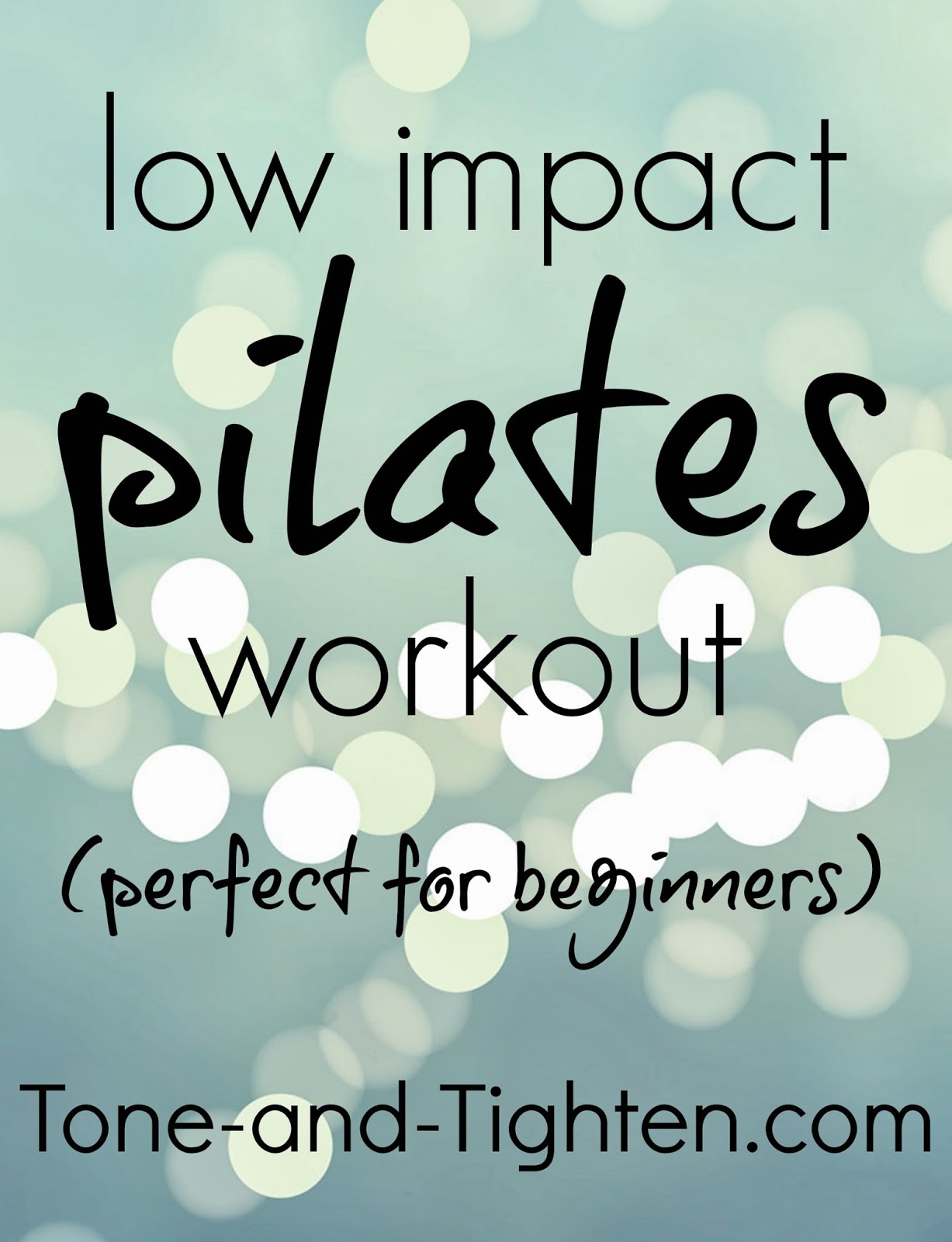 Low Impact Pilates Workout Perfect For Beginners Tone And Tighten