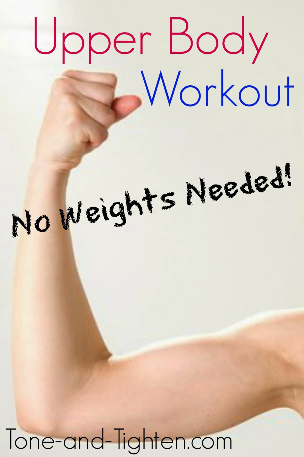 Upper Body Workout Without Weights | Tone and Tighten