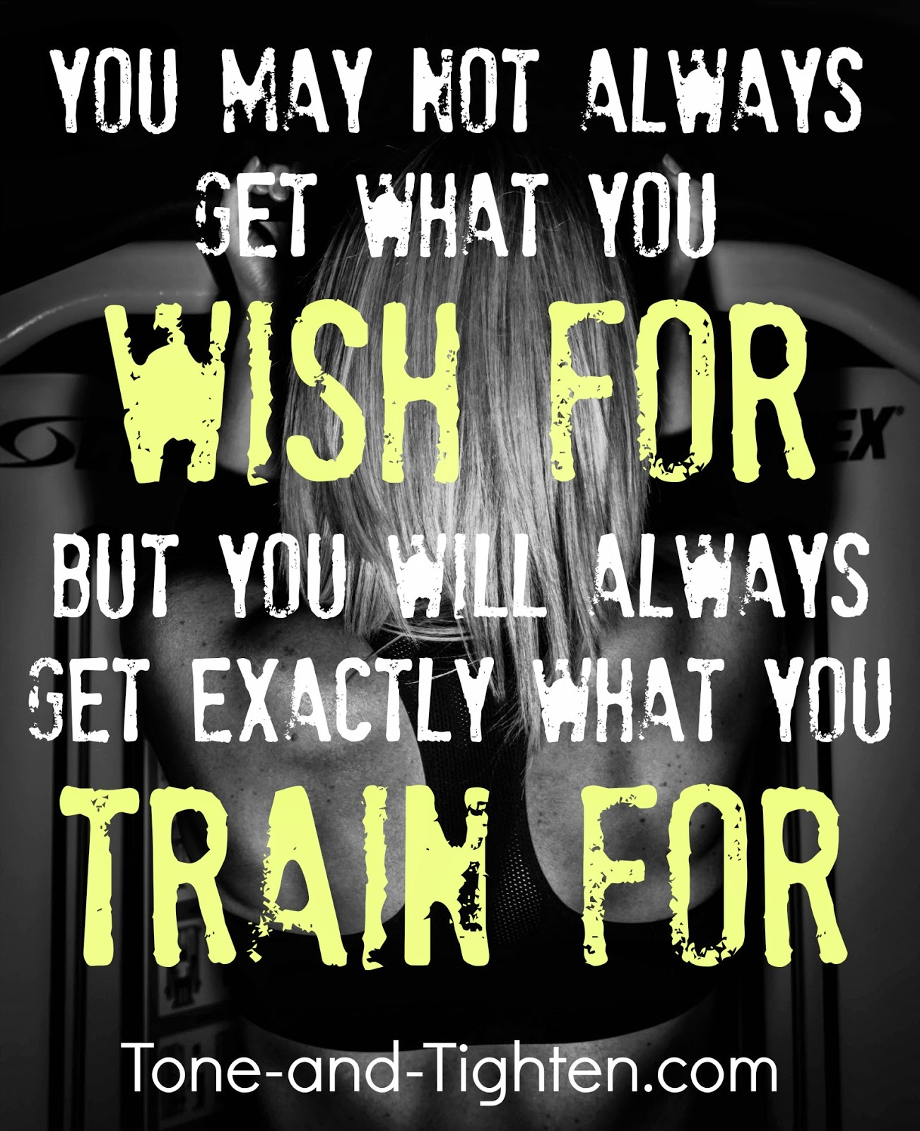 Fitness Quotes: You Will Always Get What You Train