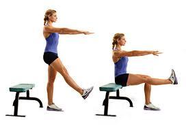 single leg squat bench