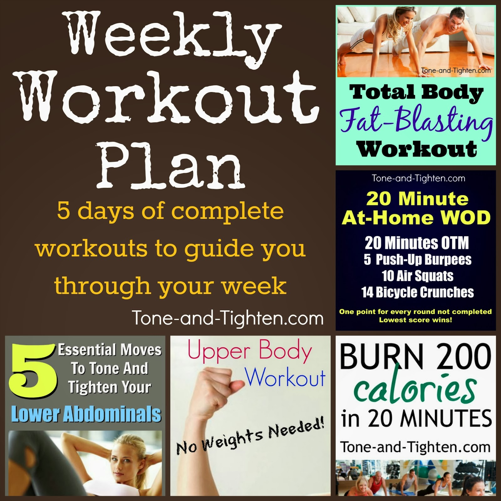 Exercise Workout Plan: 5 Days Of Workouts To Get You