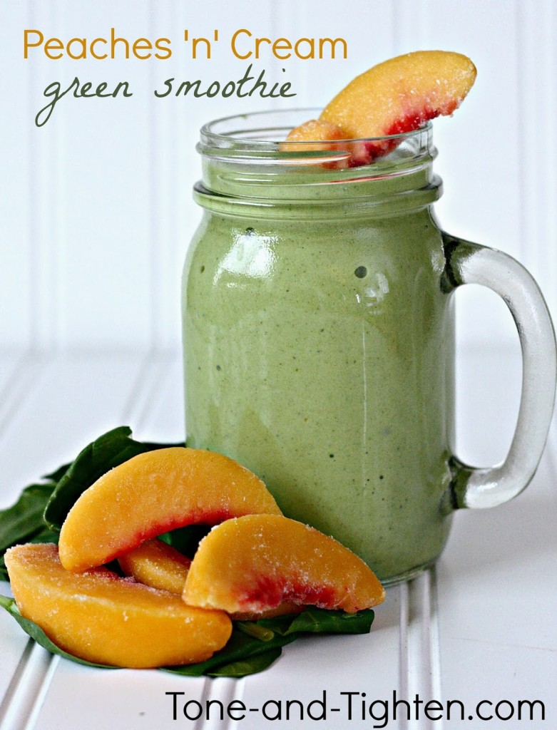 peaches 'n' cream green smoothie tone and tighten