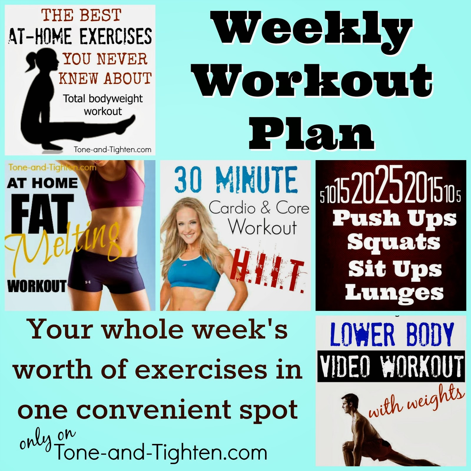 Exercise Workout Plan: Your Whole Week Of Workouts In One