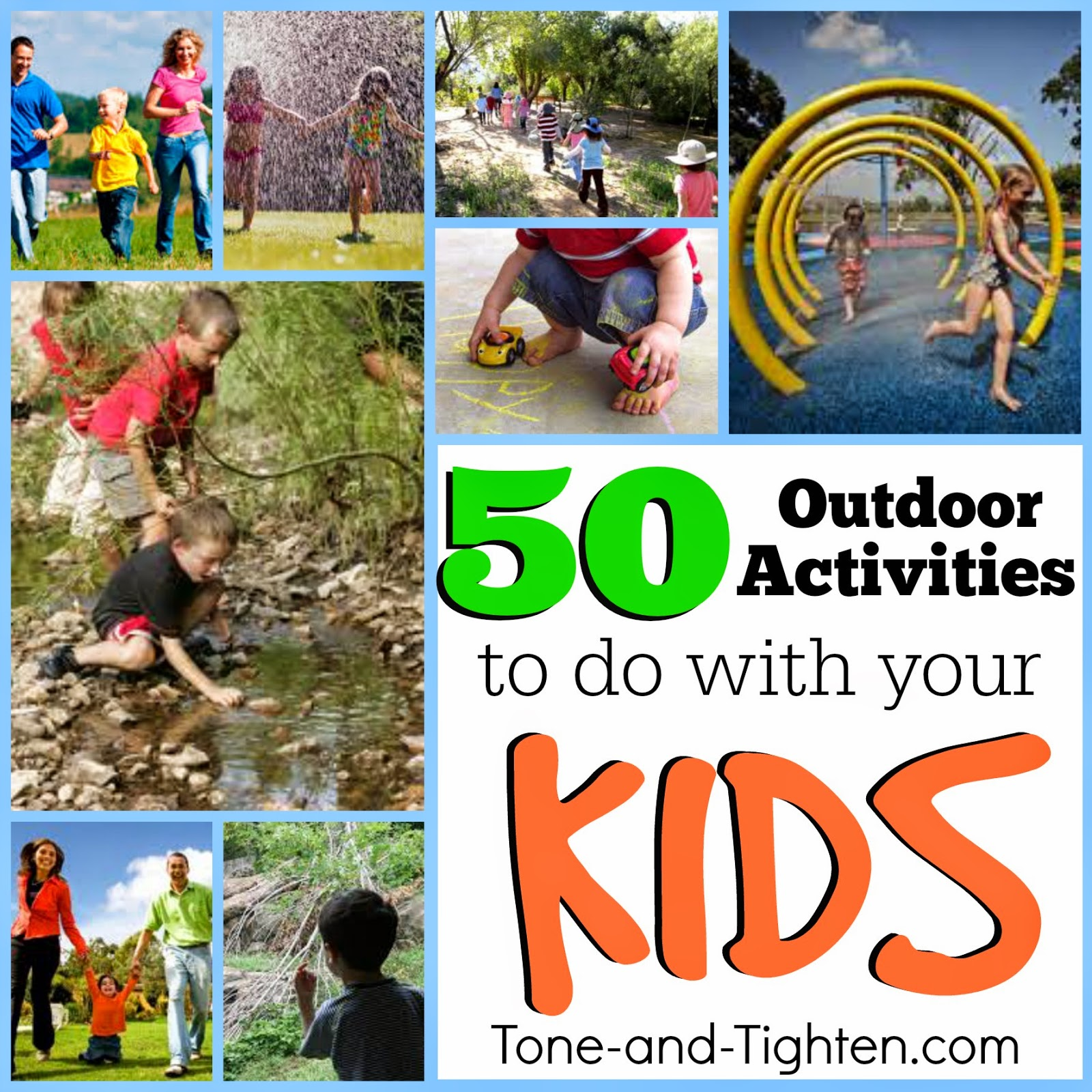Stay active with your kids this summer 50 outdoor for Fun projects for kids to do at home